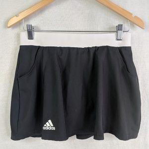 Adidas Skort Skirt Attached Shorts L Black White